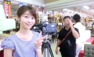 中京テレビ「キャッチ」取材の合間に