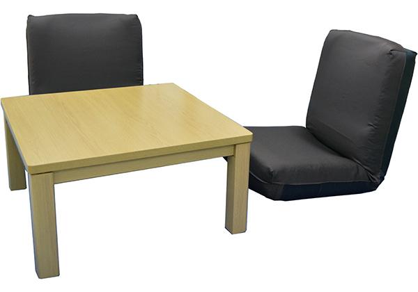 こたつテーブル&座椅子2点のセット